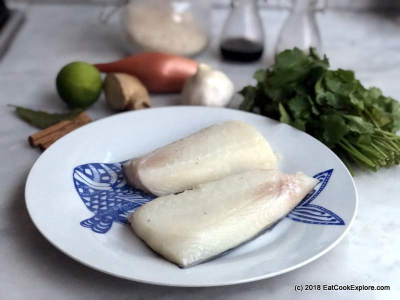 Michel Roux Jr's Norwegian Haddock Baked with ginger and Coriander