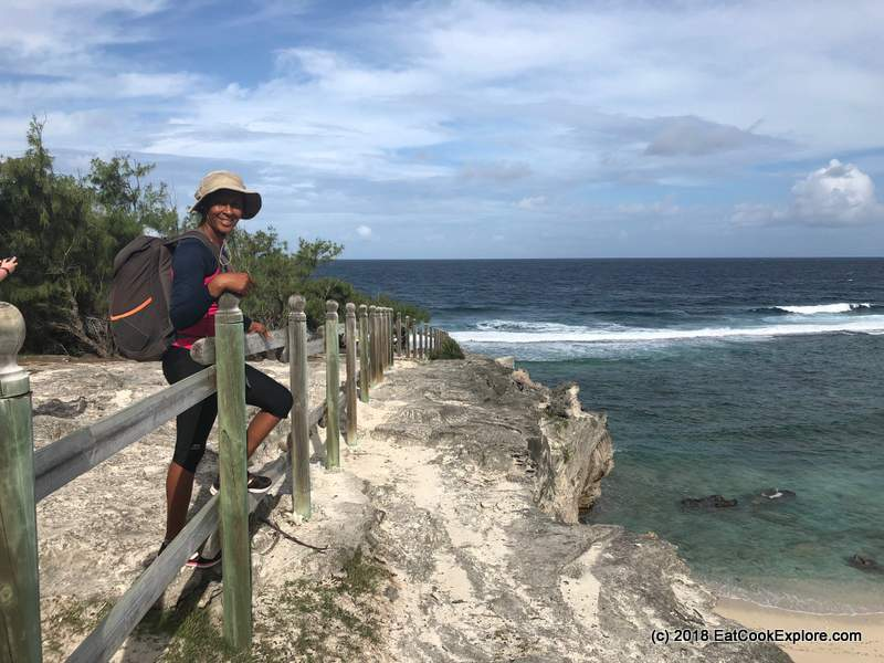 Doris, our hiking guide on Rodrigues