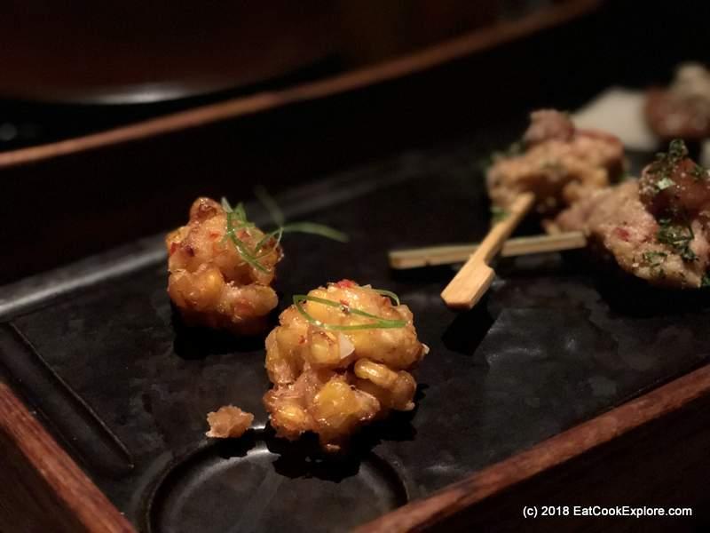 Amuse Bouche Shrimp popcorn