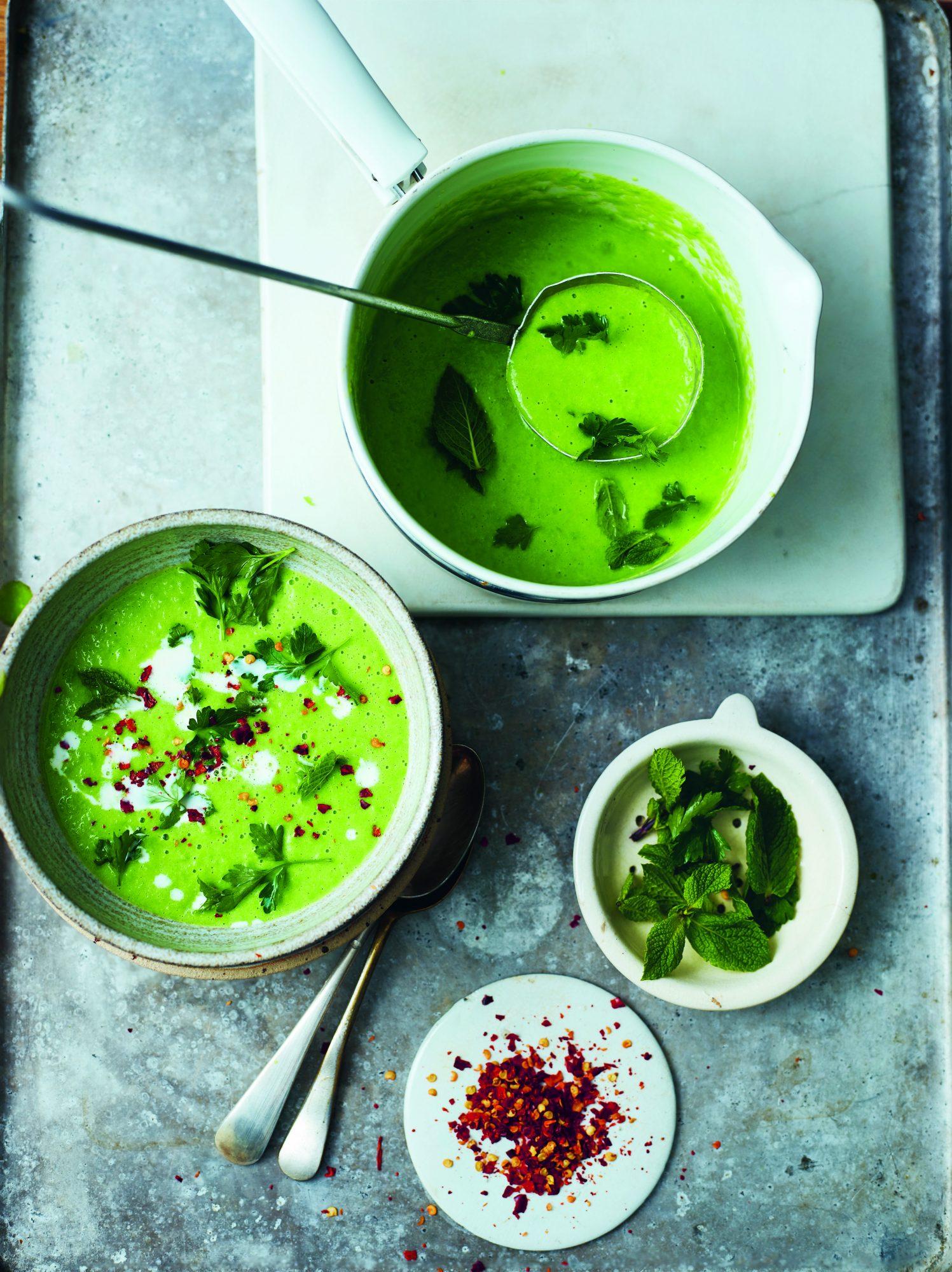 Vegan herby pea soup recipe