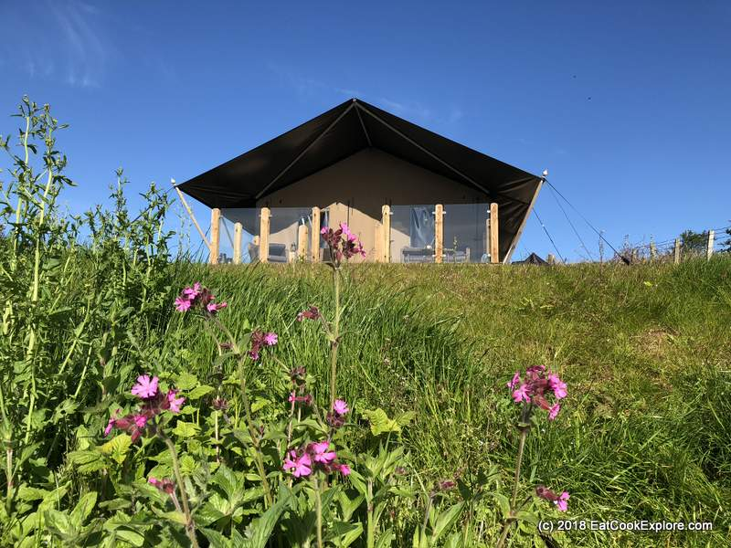 Glamping at Catchpenny safari lodges Elie Fife