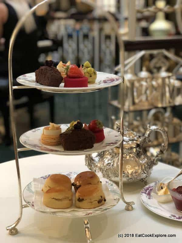 Cakes and Scones Best Traditional Afternoon Tea in London Thames Foyer Savoy Hotel