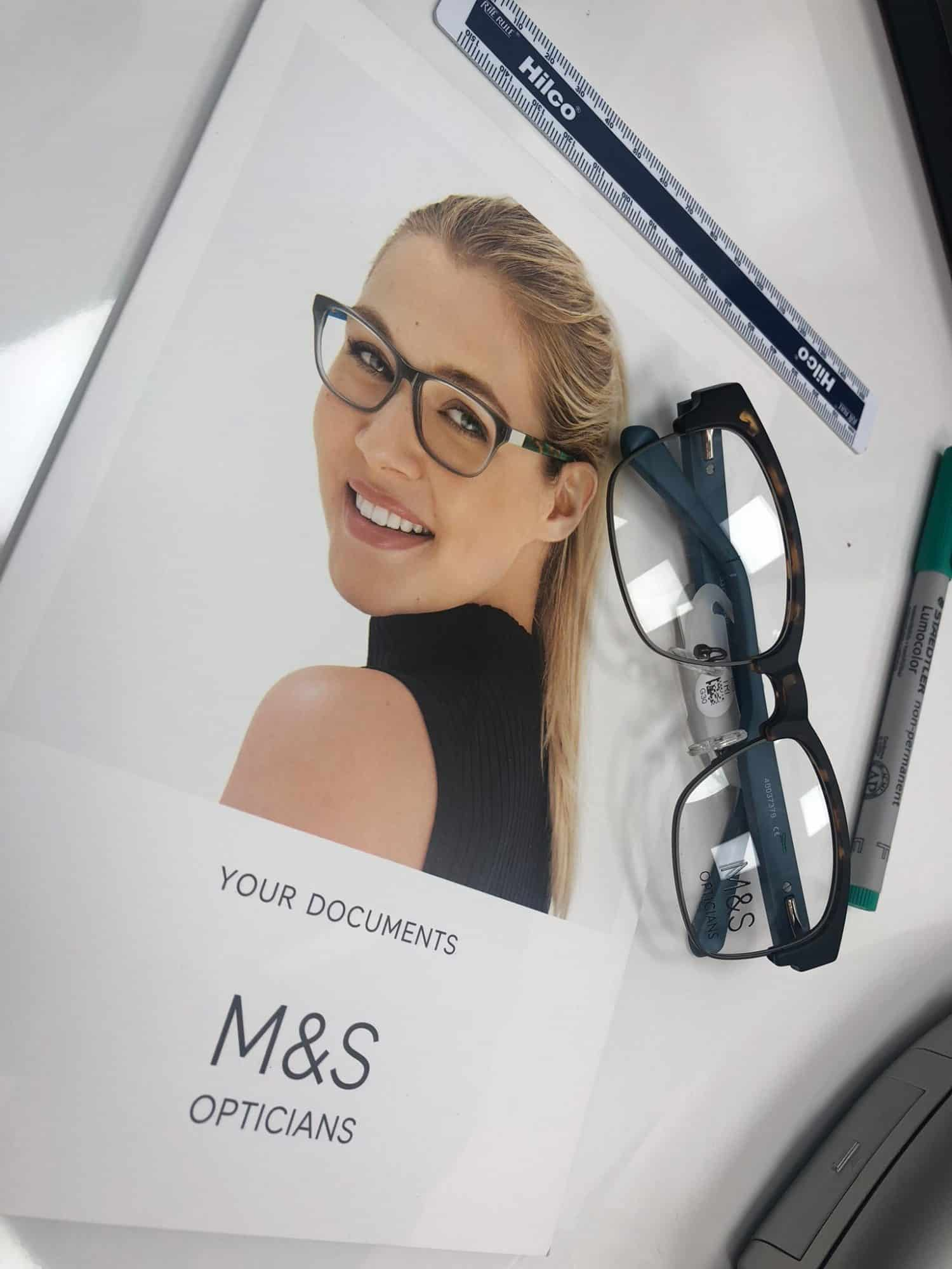 M&S Opticians for eye test and designer glasses