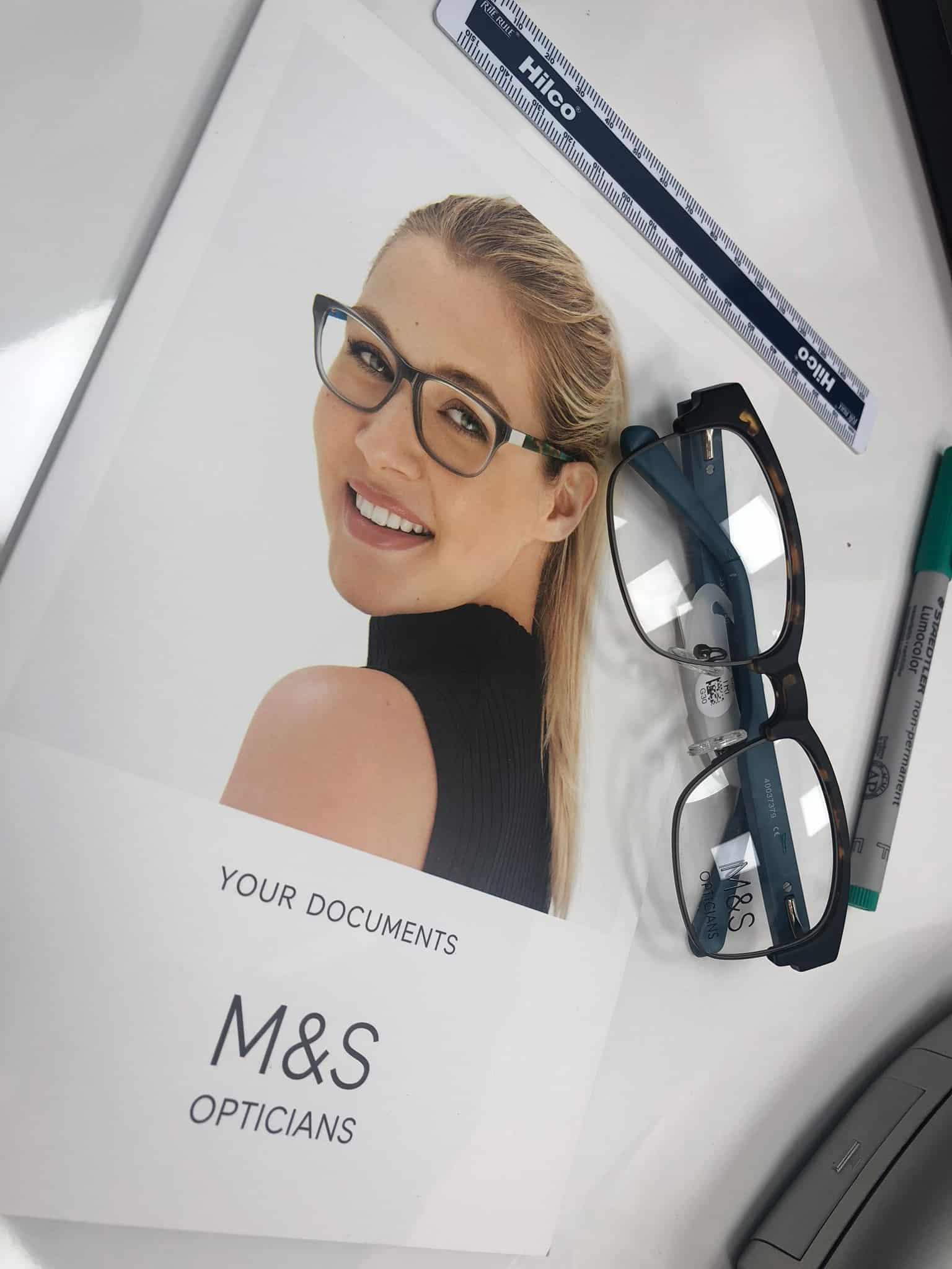 M&S Opticians for eye test and designer glasses