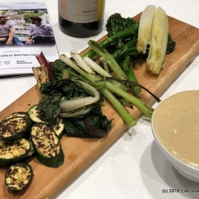 Visit Zurich Josh Eggleton's Mushroom and Cheese Fondue with charred vegetables