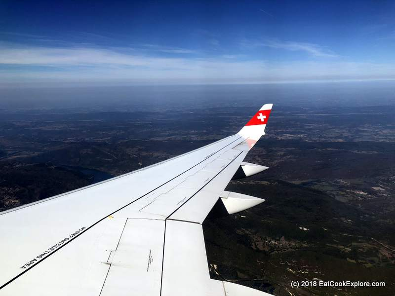 Flying Swiss Air to Geneva