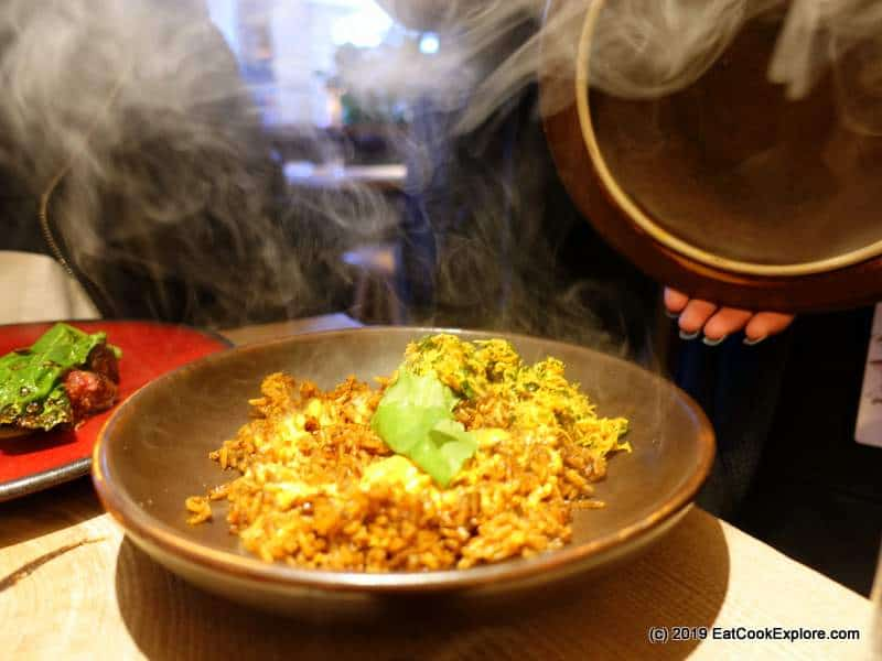Ikoyi London Smoked crab Jollof Rice.