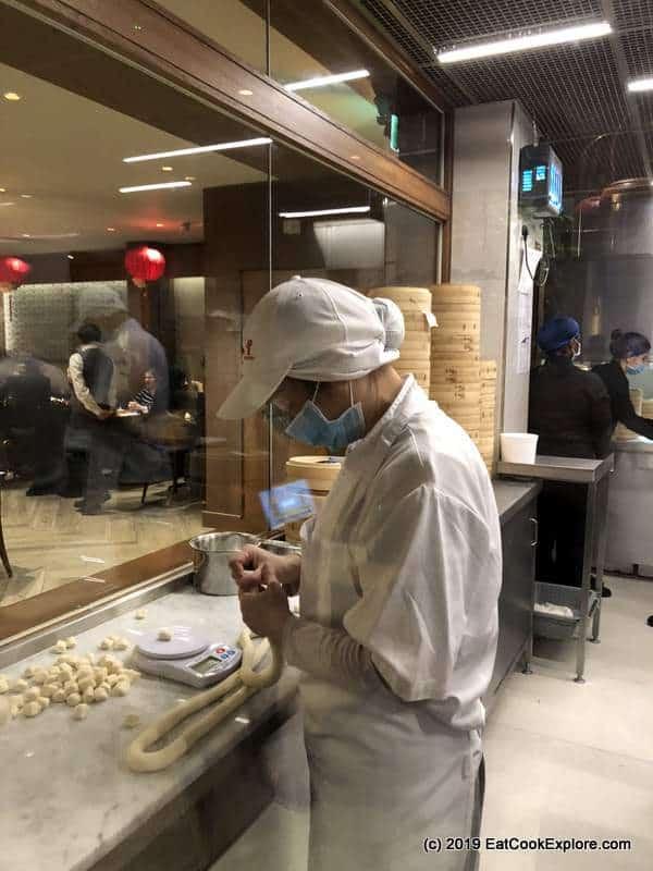 Din Tai Fung London How they make ziao long bao