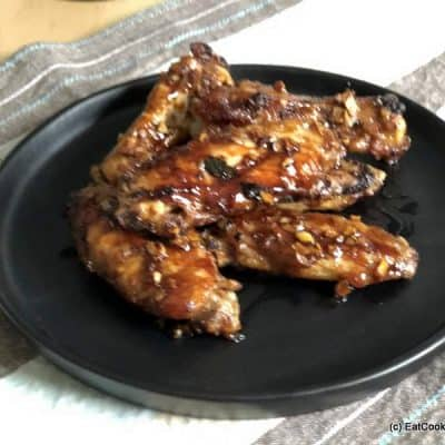 Sticky Honey Garlic Chicken Wings