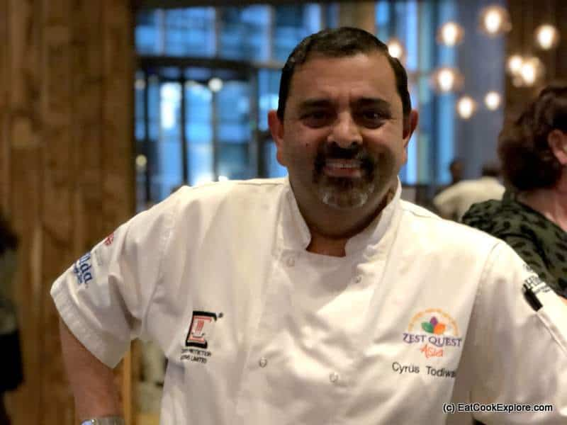 Cyrus Todiwala at Mr Todiwala's Kitchen Lincoln Plaza