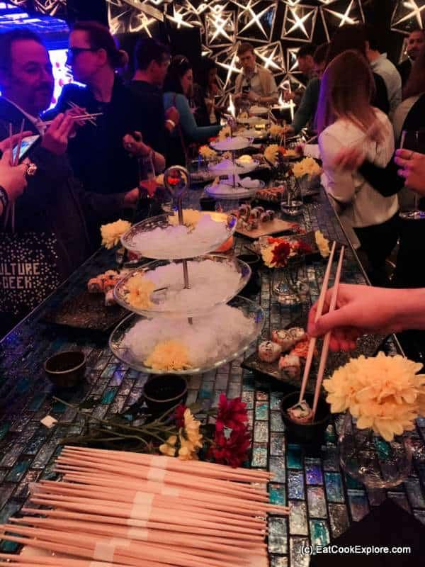 Sushi at Opium London