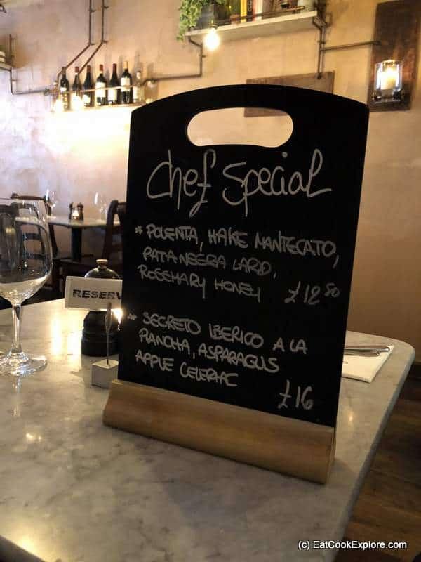 Twist Kitchen Marylebone Review Specials