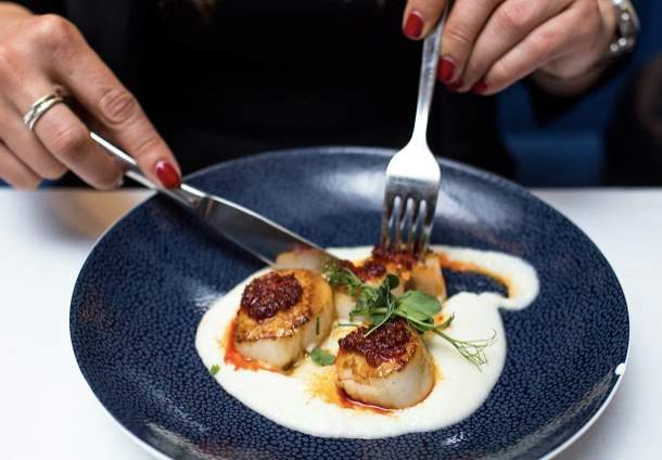 ST Luke's Table seared scallops