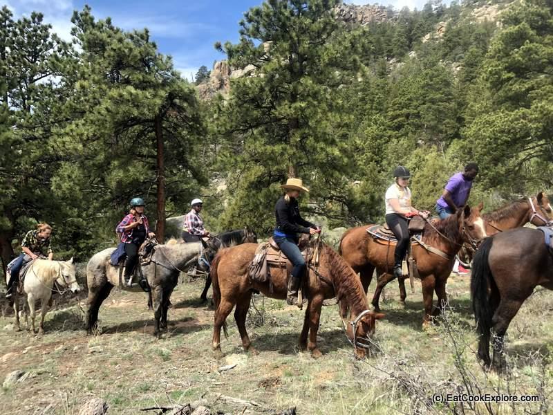 horse riding on Sundance Trail Dude Ranch
