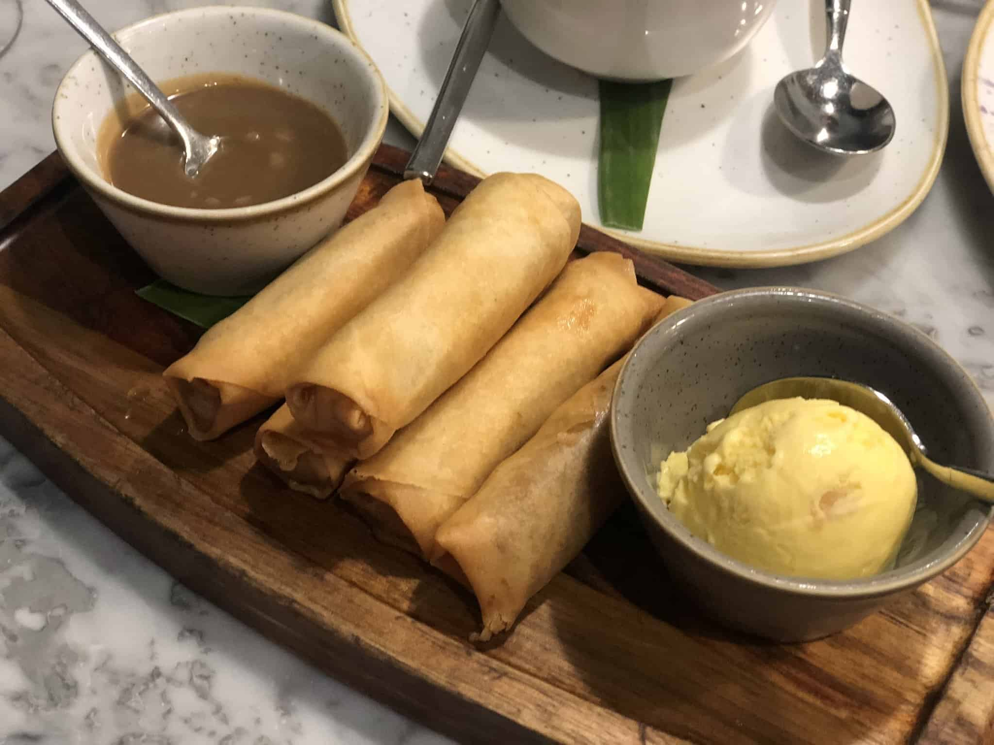 Banana Turon Romulo Cafe London