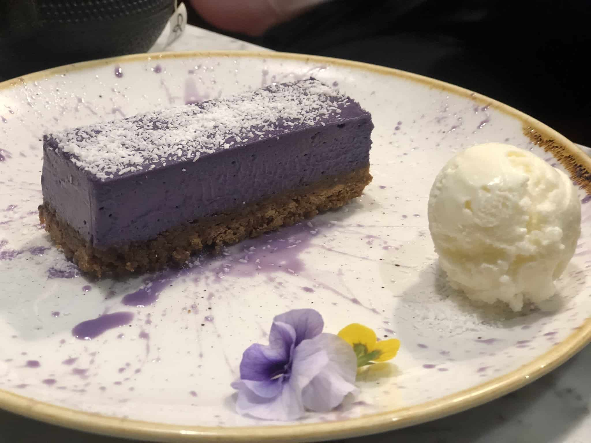 Ube Cheesecake Romulo Cafe London