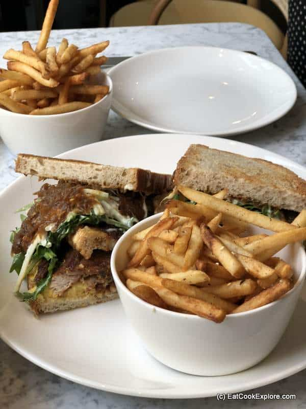Crispry pork sandwich Liv Belgravia