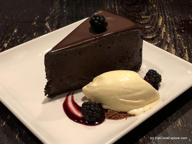 Flourless Chocolate Cake at PF Chang's Asian Table Leicester Square