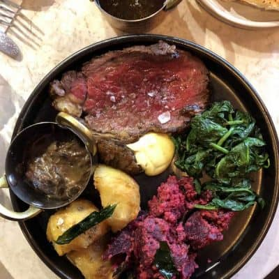 Sunday lunch at Kricket Brixton Roast Beef