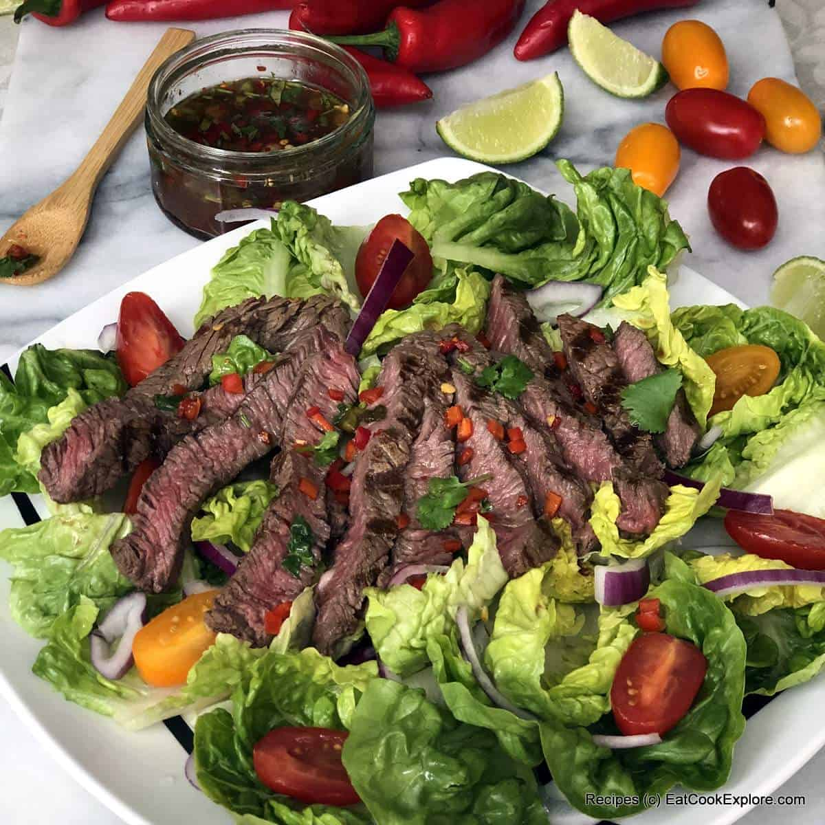 Thai Weeping Tiger Beef Salad with Hereford Beef