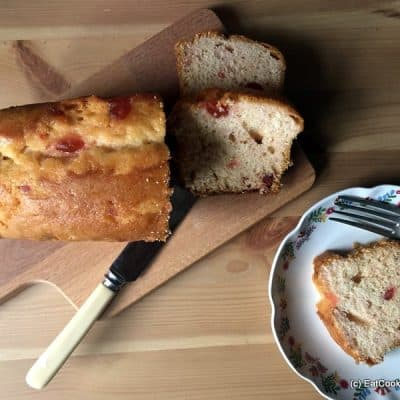 Jenkins and Hustwit Yorkshire Farmhouse Cakes - Almond and Cherry loaf cake